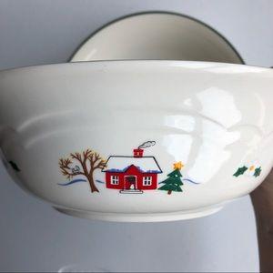 Pfaltzgraff Snow Village Two Small Serving Bowls